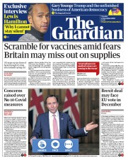 The Guardian front page for 17 November 2020