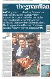 The Guardian (UK) Newspaper Front Page for 17 December 2014