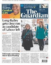 The Guardian (UK) Newspaper Front Page for 17 December 2019