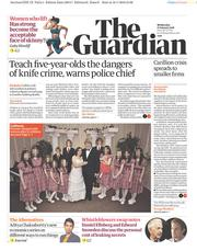 The Guardian (UK) Newspaper Front Page for 17 January 2018