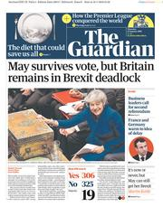 The Guardian (UK) Newspaper Front Page for 17 January 2019