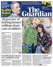 The Guardian (UK) Newspaper Front Page for 17 January 2020