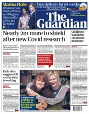 The Guardian front page for 17 February 2021