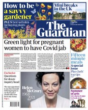 The Guardian front page for 17 April 2021