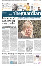 The Guardian (UK) Newspaper Front Page for 17 May 2017