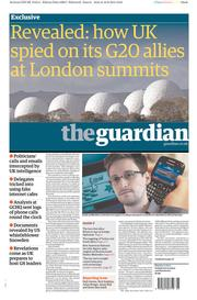 The Guardian Newspaper Front Page (UK) for 17 June 2013