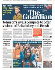 The Guardian (UK) Newspaper Front Page for 17 June 2019