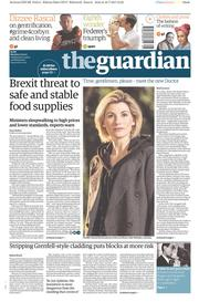 The Guardian (UK) Newspaper Front Page for 17 July 2017