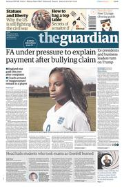 The Guardian (UK) Newspaper Front Page for 17 August 2017