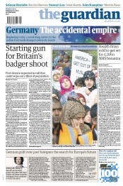 The Guardian Newspaper Front Page (UK) for 17 September 2012