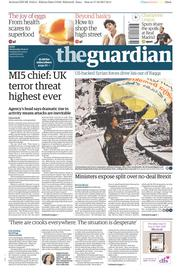 The Guardian (UK) Newspaper Front Page for 18 October 2017