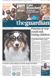 The Guardian (UK) Newspaper Front Page for 18 November 2017