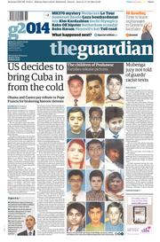 The Guardian (UK) Newspaper Front Page for 18 December 2014