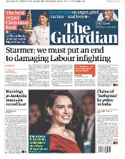 The Guardian () Newspaper Front Page for 18 December 2019