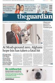 The Guardian (UK) Newspaper Front Page for 18 April 2017