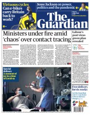 The Guardian front page for 18 May 2020