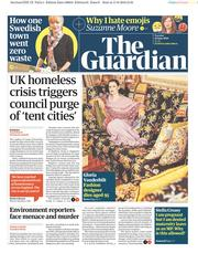The Guardian (UK) Newspaper Front Page for 18 June 2019