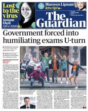 The Guardian (UK) Newspaper Front Page for 18 August 2020