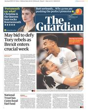 The Guardian (UK) Newspaper Front Page for 19 November 2018