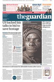 The Guardian (UK) Newspaper Front Page for 19 December 2014