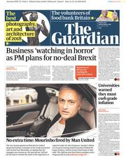 The Guardian (UK) Newspaper Front Page for 19 December 2018