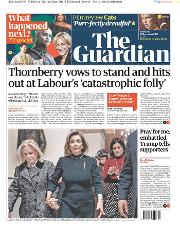 The Guardian (UK) Newspaper Front Page for 19 December 2019