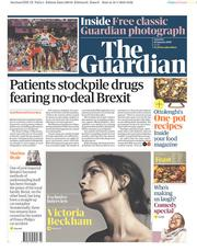 The Guardian (UK) Newspaper Front Page for 19 January 2019