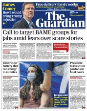 The Guardian front page for 19 January 2021