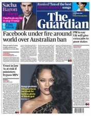 The Guardian front page for 19 February 2021