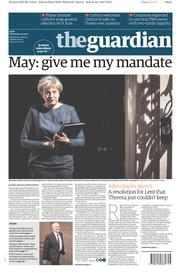 The Guardian (UK) Newspaper Front Page for 19 April 2017