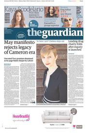 The Guardian (UK) Newspaper Front Page for 19 May 2017