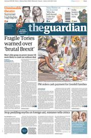 The Guardian (UK) Newspaper Front Page for 19 June 2017