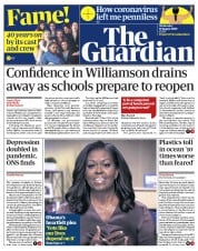 The Guardian (UK) Newspaper Front Page for 19 August 2020