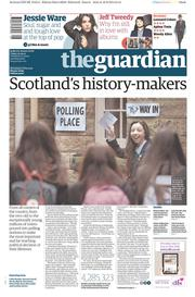 The Guardian (UK) Newspaper Front Page for 19 September 2014