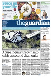 The Guardian (UK) Newspaper Front Page for 1 November 2014