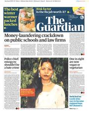 The Guardian () Newspaper Front Page for 1 November 2018