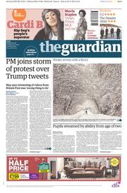 The Guardian (UK) Newspaper Front Page for 1 December 2017