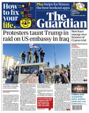 The Guardian (UK) Newspaper Front Page for 1 January 2020