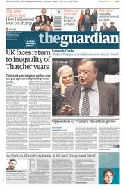 The Guardian (UK) Newspaper Front Page for 1 February 2017
