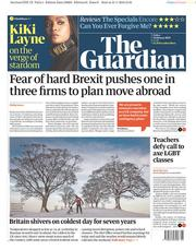 The Guardian (UK) Newspaper Front Page for 1 February 2019