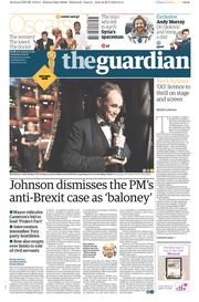 The Guardian (UK) Newspaper Front Page for 1 March 2016