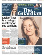 The Guardian (UK) Newspaper Front Page for 1 March 2019