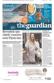 The Guardian (UK) Newspaper Front Page for 1 April 2017