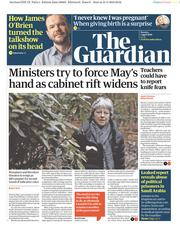 The Guardian (UK) Newspaper Front Page for 1 April 2019