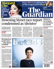 The Guardian (UK) Newspaper Front Page for 1 April 2021