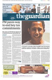 The Guardian (UK) Newspaper Front Page for 1 May 2017