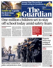 The Guardian front page for 1 June 2020