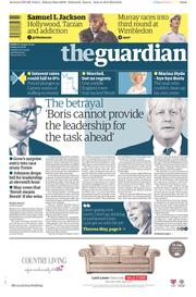The Guardian () Newspaper Front Page for 1 July 2016