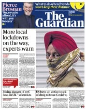 The Guardian front page for 1 July 2020