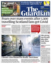 The Guardian () Newspaper Front Page for 1 July 2021